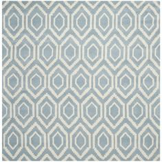 Handmade Moroccan Blue Contemporary Wool Rug (7' Square) - Overstock™ Shopping - Great Deals on Safavieh Round/Oval/Square