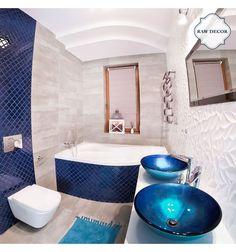 Arabeska średnia, granatowa, szkliwiona - płytki ceramiczne/mozaika| sklep RawDecor.pl