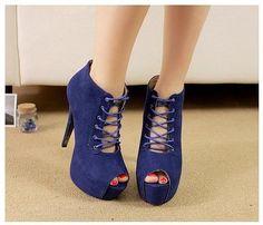 Untitled pumps  shoes,  #blau