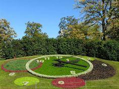 Geneva, the famous flower clock.