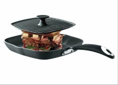 "Bialetti Panini Maker and Multi Grill Pan by Bialetti. $74.95. Press size is 9.25 inch x 9.25 inch. Madie in Italy. Panini Pan size is 11"" x 11"". Nonstick Interior. Extra Heavy Press. Bialetti Panini Maker.  Pan size is 11 inch x 11 inch and the press size is 9.25 inch x 9.25 inch.  Made of Cast Aluminum w/ nonstick and ridges on both the pan and the press."