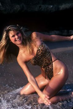 Enjoy an 80s flashback with a very young Christie Brinkley
