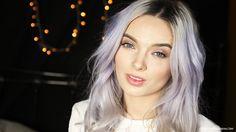 pastel hair, blue hair, silver hair, fudge clean blonde, violet toner, my pale skin, em ford. review, pastel hair