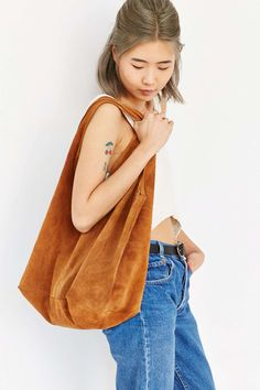 Ecote Suede Shopper Bag - Urban Outfitters