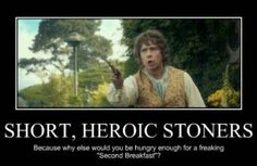 "Hobbits: Very fond of ""pipe-weed"""