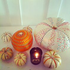 Eclair: Pumpkin Project with fabric paint