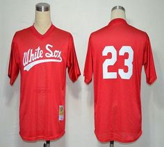 1990 Mitchell And Ness White Sox #23 Robin Ventura Red Throwback Embroidered MLB Jersey! Only $18.50USD