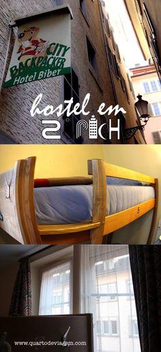 Hospedagem em Zurique, Hostel Backpacker Biber! #QUARTODEVIAGEM #zurich #switzerland #hostel