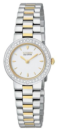 Womens Watches - Citizen Ladies Two Tone Silhouette Crystal Watch EW9824-53A