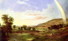 """Robert Duncanson painted Landscape with Rainbow two years after everybody thought Frederic Church's rainbow in Niagara could never be topped, says art historian Claire Perry. Although other artists grew skittish, """"Duncanson waded right in,"""" she says. """"It was a bold move."""""""