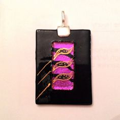 "This pendant designed using high quality ""dichroic"" glass and decorated with gold luster 22K. on Etsy, $20.00"
