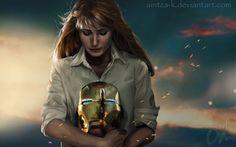 Pepper Potts   Iron Man fanart , por Aintzane  en Fan Art   Dibujando.net  #fan-art #cine #tradicional #realista #digital #pintura-color