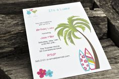Luau Party Invitations Personalized Set of Party by itsybitsypaper, $30.00