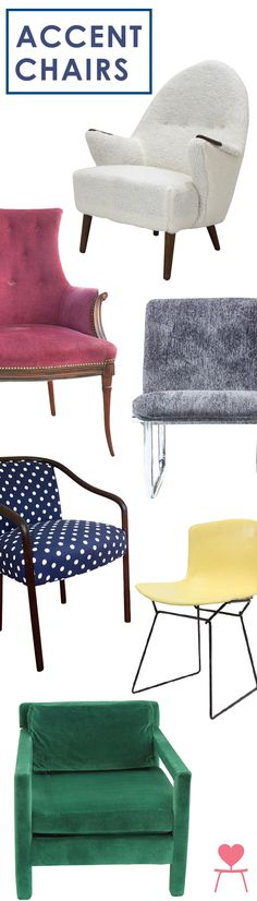 A fabulous accent chair is an easy and very functional way to infuse style into any room. Whether you long for a mid-century modern womb chair or sweet Bergere chair, Chairish has the perfect vintage accent chair for you.