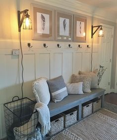 """Shanty Sisters on Instagram: """"Ash and I had the best time crashing our little sister's house and building her a whole new entryway ❤️ Just shared a YouTube video tutorial to create this super easy and inexpensive board and batten wall treatment! Check it out! Link is in our profile! #shanty2chic #diy #shantyhousecrash"""""""