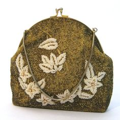 vintage Beaded Handbag / Intricate Seed Bead Purse / vintage Evening Bag