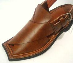 Asian Mens 100 Genuine Leather Peshawari Sandal Shoes | eBay