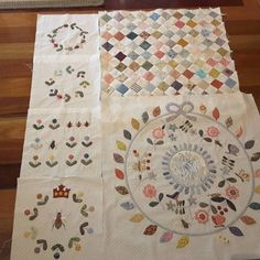 Rowdy Flat Library Quilt: corner and filler squares