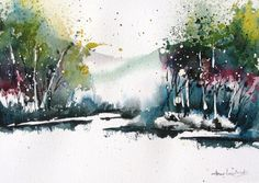 Bosque Colors V  Original Watercolor Painting by charlesash