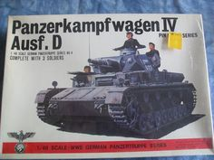 NOS SEALED Box 1970's Bandai 1/48 Scale Panzerkampfwagen IV Ausf. d Model by MyHillbillyWays on Etsy