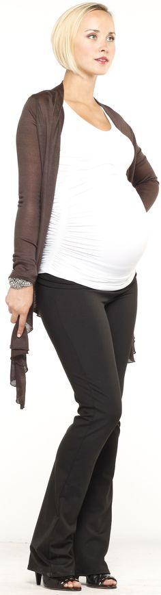 Ingrid & Isabel Black Everywear  Maternity Pants | Maternity Clothes Available at Due Maternity www.duematernity.com