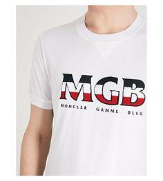MONCLER GAMME BLEU - Logo-print cotton-jersey T-shirt   Selfridges.com