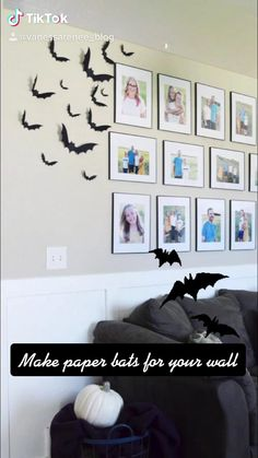These DIY Paper Bats will make an impact this Halloween. A quick and inexpensive Halloween decor idea. Paper Bat, Diy Paper, Paper Crafts, Halloween Coloring Sheets, Coloring Sheets For Kids, Diy Halloween Decorations, Halloween Kids, Craft Blogs, Activity Sheets For Kids