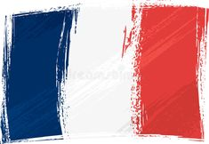 Illustration about France national flag created in grunge style. Illustration of french, symbol, flag - 5376780
