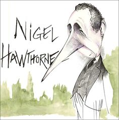 """Gerald Scarfe - Nigel Hawthorne from """"Yes Minister"""""""