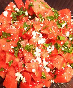 Nutrition Milestones | Watermelon, Mint & Feta Salad Recipe #yum