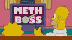 """Fake reality show """"Meth Boss"""" on The Simpsons."""