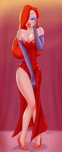 Jessica Rabbit by *Flick-the-Thief on deviantART