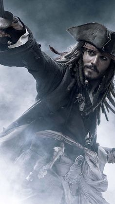 We know who was best Pirate ever, Captain Jack Sparrow. So, in honor of our captain, we brought you this amazing Pirates Of The Caribbean Poster Collection. Around The World In 80 Days, End Of The World, Johnny Depp Haircut, Captian Jack Sparrow, Jack Sparrow Wallpaper, Johnny Depp Wallpaper, Sea Of Thieves, Johny Depp, Film Disney