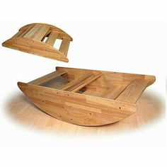 Wooden teeter totter boat
