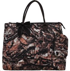 Large Natural Camo Print Quilted Rectangle Tote Bag