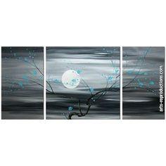 Tableau triptyque contemporain CIgroup paintingset016