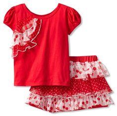 Nannette Girls 2-6X 2 Piece Knit Shirt And Woven Divided Skirt With Knit Attached Short, Red, 4 Nannette,http://www.amazon.com/dp/B00APEG906/ref=cm_sw_r_pi_dp_t8z0sb1WF38502S9