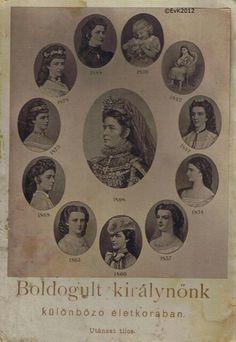Keizerin Elisabeth op verschillende leeftijden.