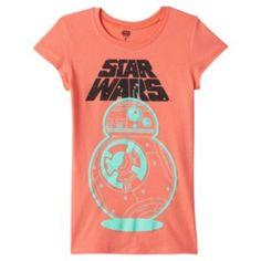 Girls 7-16 Star Wars: Episode VII The Force Awakens BB-8 T-Shirt