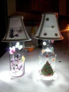 "Butterfly+&+Flower+Lamp+from+Brandy's+""Jam""Boree+-N-+More+by+DaWanda.com"