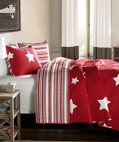 Look what I found on #zulily! Red Revere Quilt Set by Lush Décor #zulilyfinds