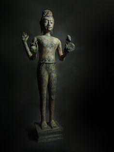 Large Bronze Bodhisattva Avalokitesvara or Guanyin by SiamSawadee, $149.99