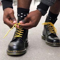 #drmartensstyleThe 1460. Lace it how you want, wear it how you want. Photo by hypeflaw. #drmartensstyle
