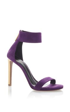 Purple Lambskin Sandal by ROBERTO CAVALLI for Preorder on Moda Operandi