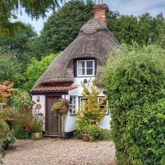 """Jolanda Schepers on Instagram: """"Tiny thatched dream house somewhere Possible in the UK 💚💚#pinterestpic #pinterest #dreamhouse #dreamhome #thatchedcottage #thatched…"""""""