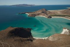 #BajaSur Playa Balandra, Playa Tecolote in background and Isla Espiritu Santo across the channel #BCS #LaPaz