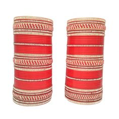 Awesome Red Wedding Bangles-L22