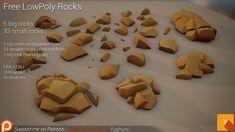 Free LowPoly Rocks set01 | OpenGameArt.org