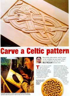 #2832 Celtic Wood Carving - Wood Carving