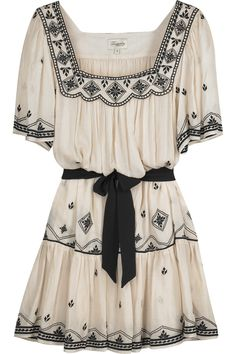 Temperley London | Folk embroidered dress | NET-A-PORTER.COM $492